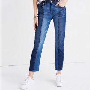 Madewell Cruiser Straight Two Tone Jeans Size 27